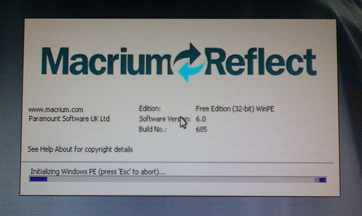 macrium reflect bootable usb iso