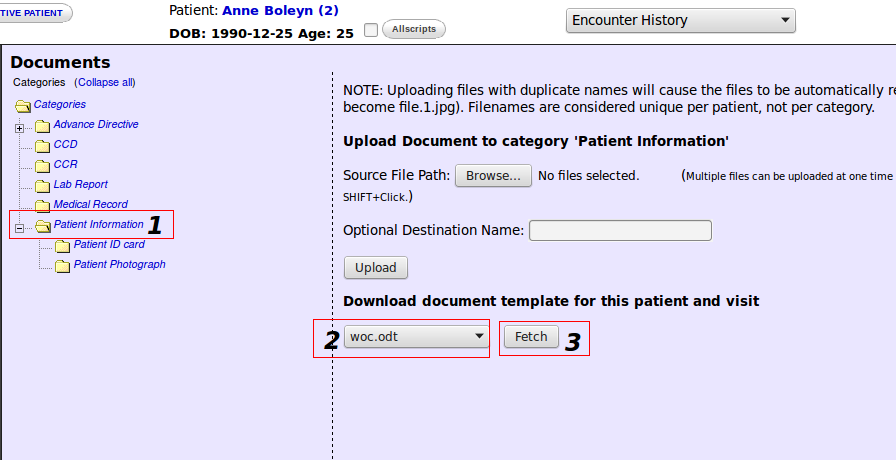 templates for patient documents openemr project wiki
