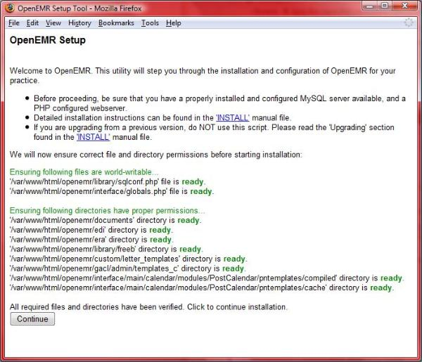 OpenEMR 3 2 Linux Installation - OpenEMR Project Wiki