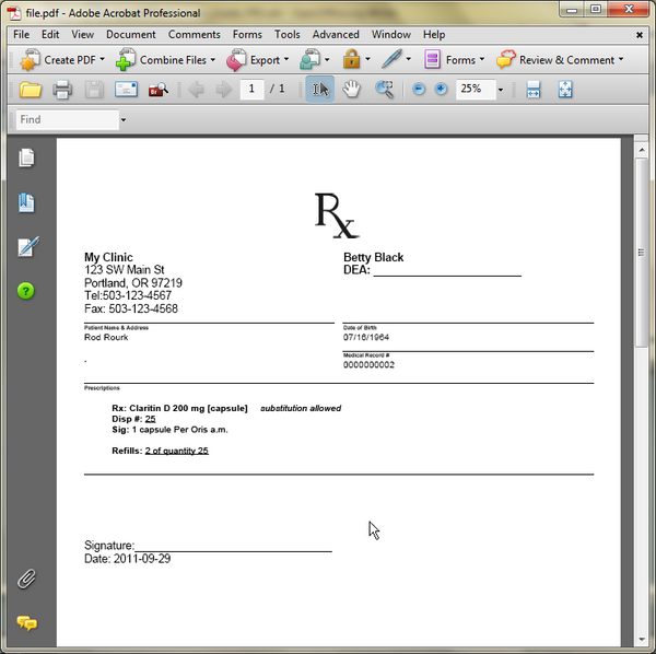 printable blank prescription forms Success